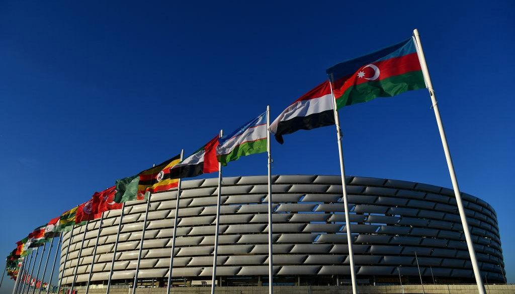The Olympic stadium in Baku will host the final