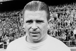 Puskas playing for Real Madrid