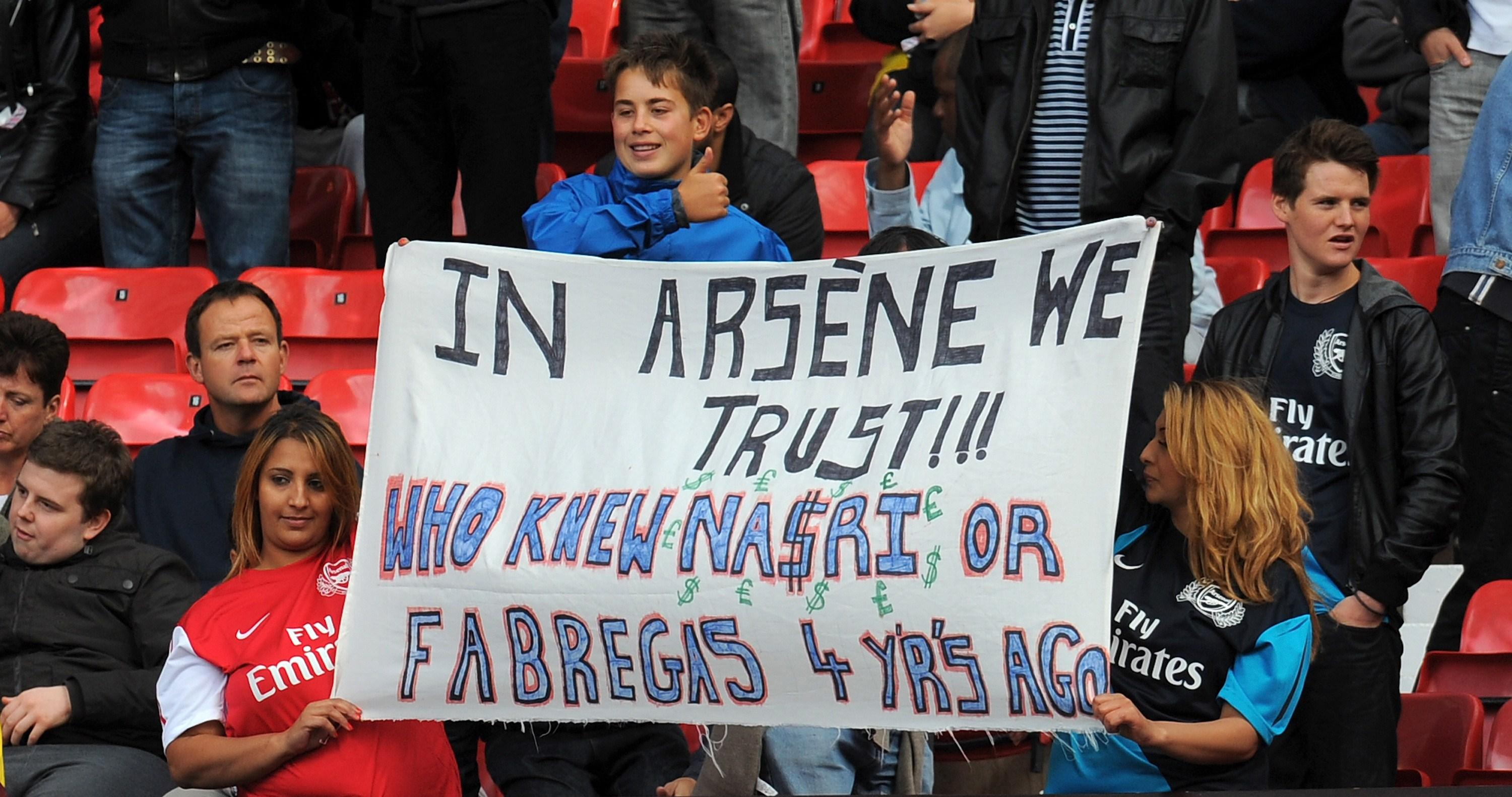 Safe to say this banner wasn't out at full-time