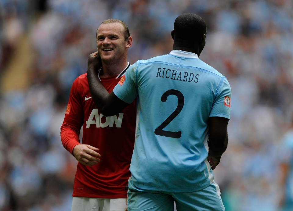 Arguably Richards' best ever performance came in a Manchester derby