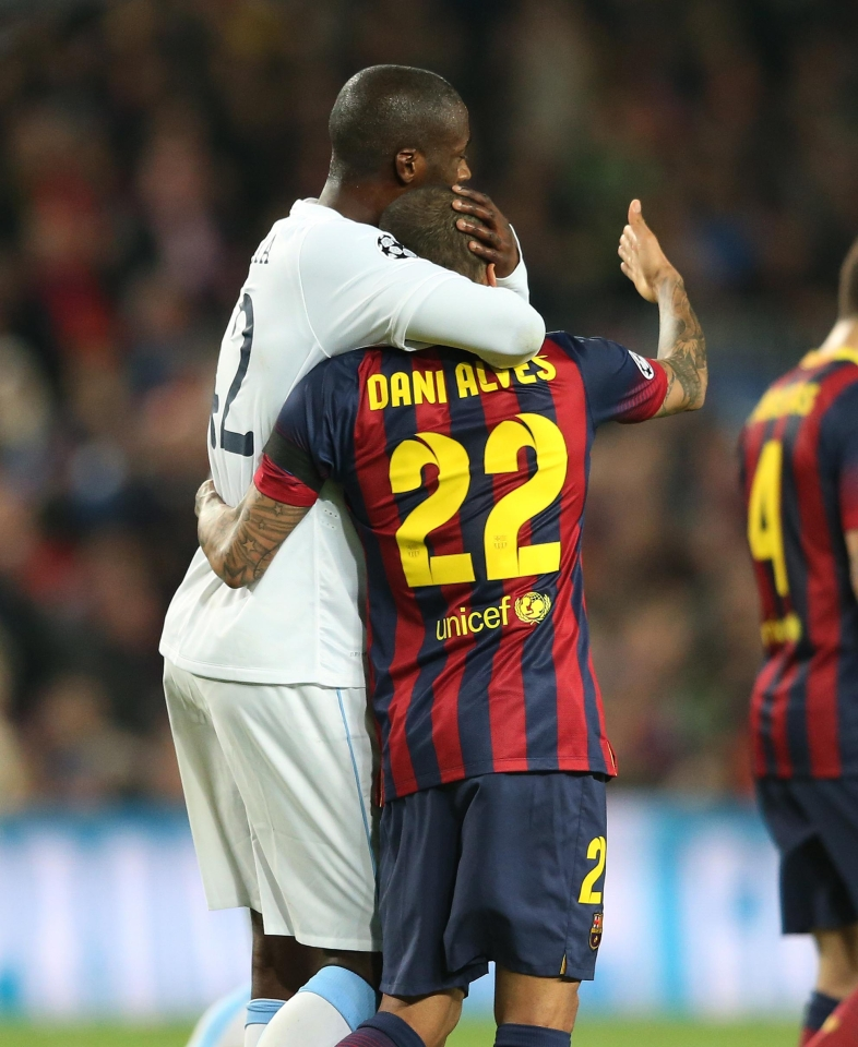 He honoured his long-time friend Abidal by wearing the #22