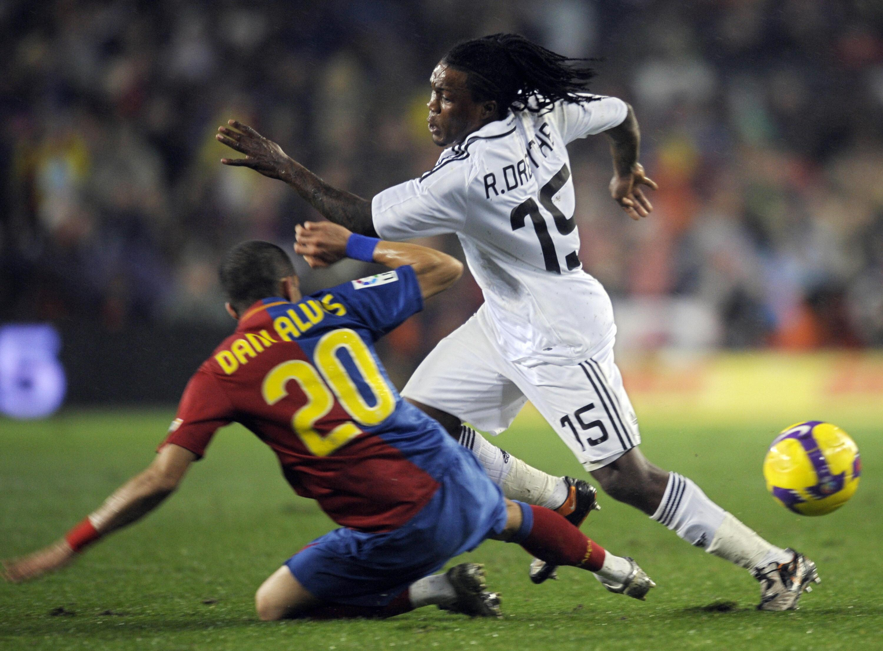 Hacking down Royston Drenthe in his first El Clasico