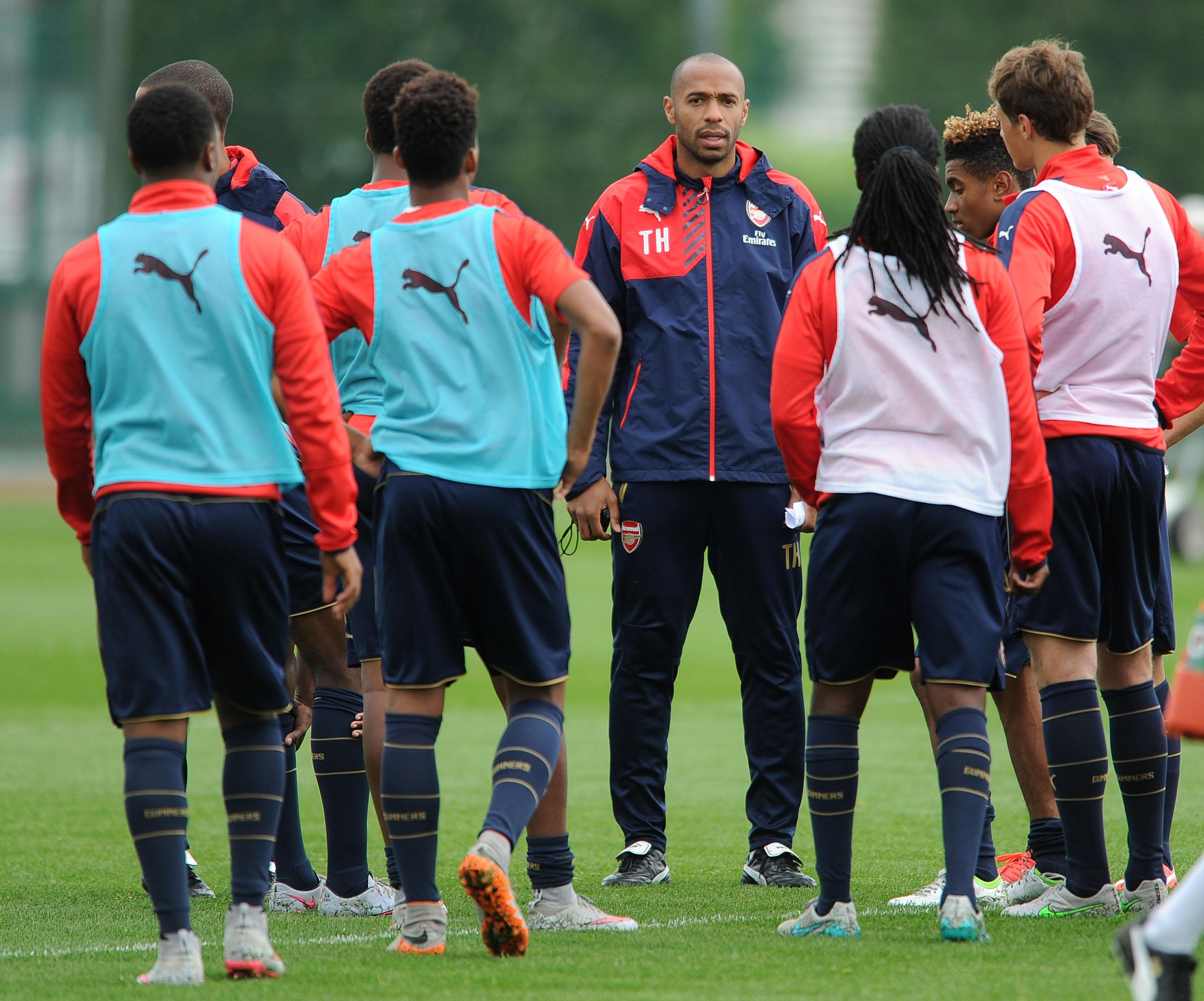 Arsenal's youngsters were learning from the World Cup winner