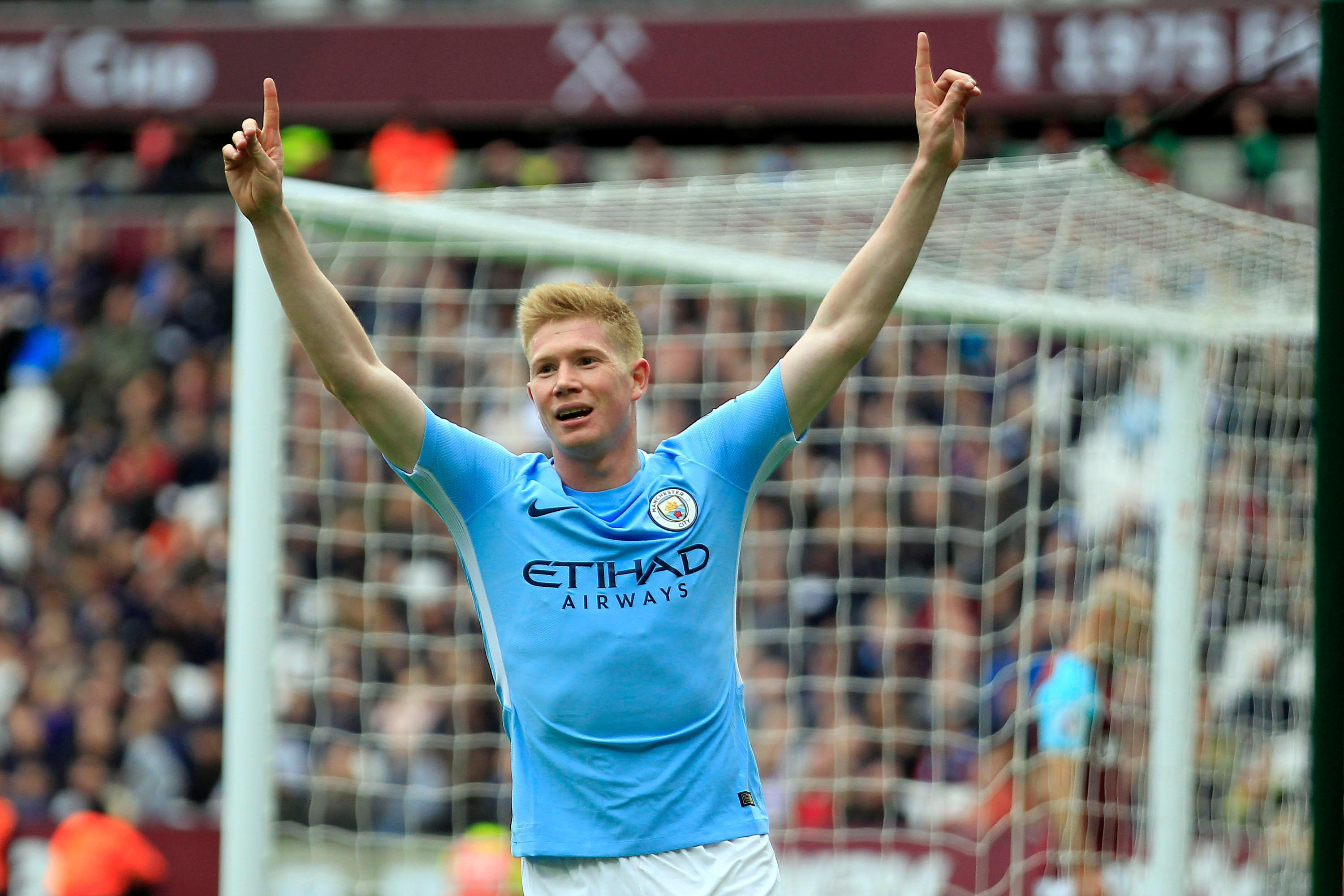 KDB was Man City's assist king
