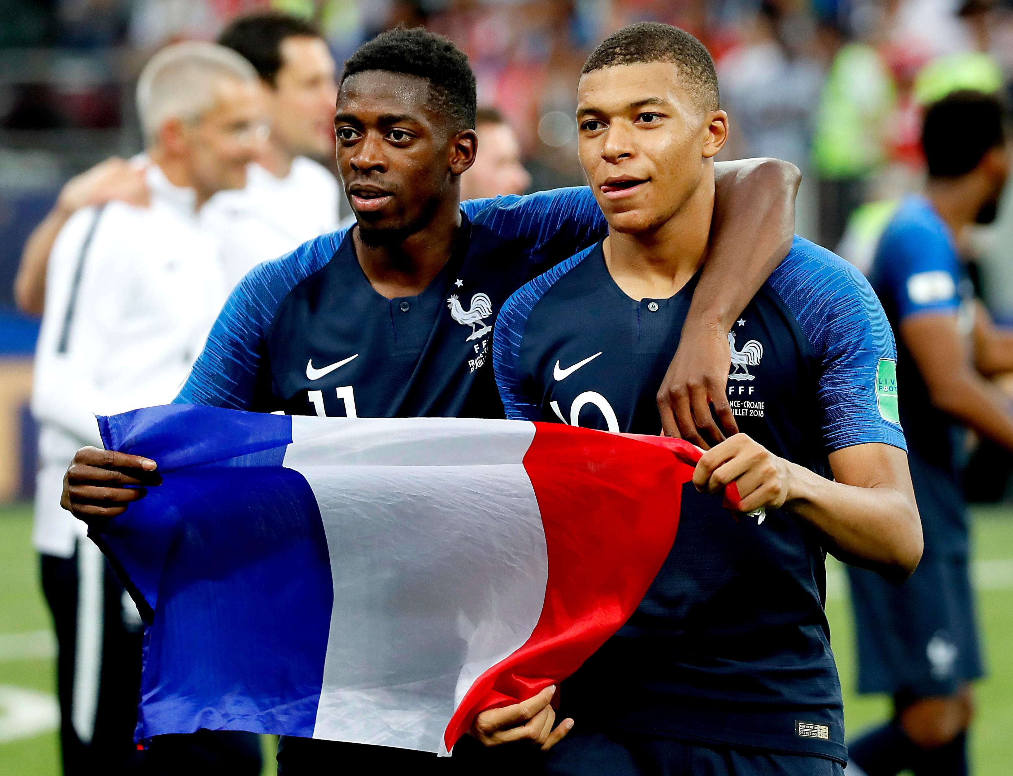 Dembele and Kylian Mbappe are seen as the future of French football