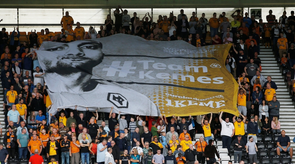 2b0affc0edc Reuters. 4. Wolves have retired the no.1 shirt out of respect for Carl  Ikeme. Rui Patricio will wear ...