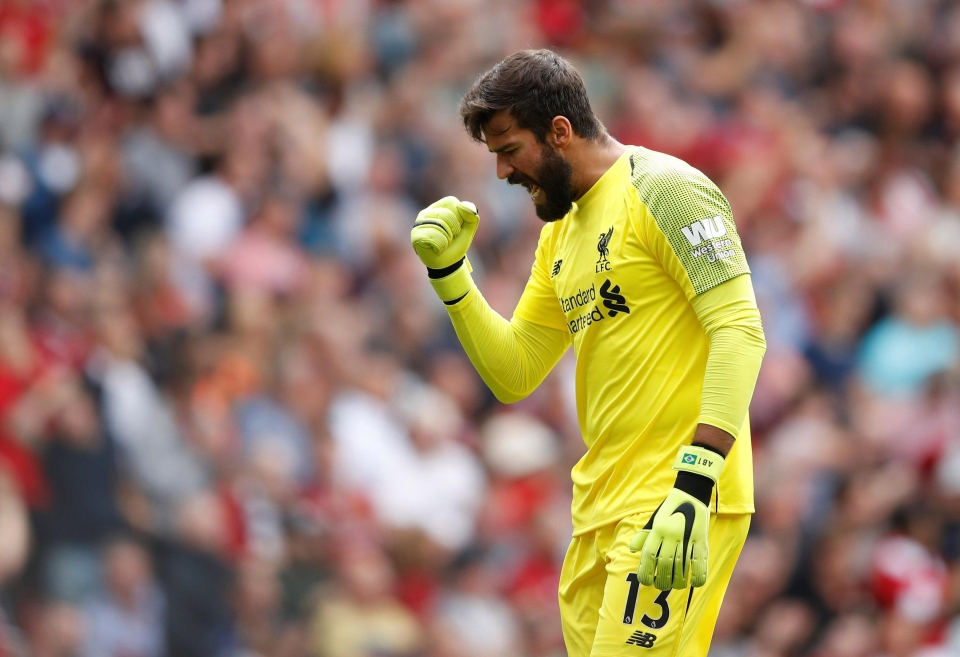 Liverpool keeper Alisson has kept a clean sheet in his only Premier League game for Liverpool