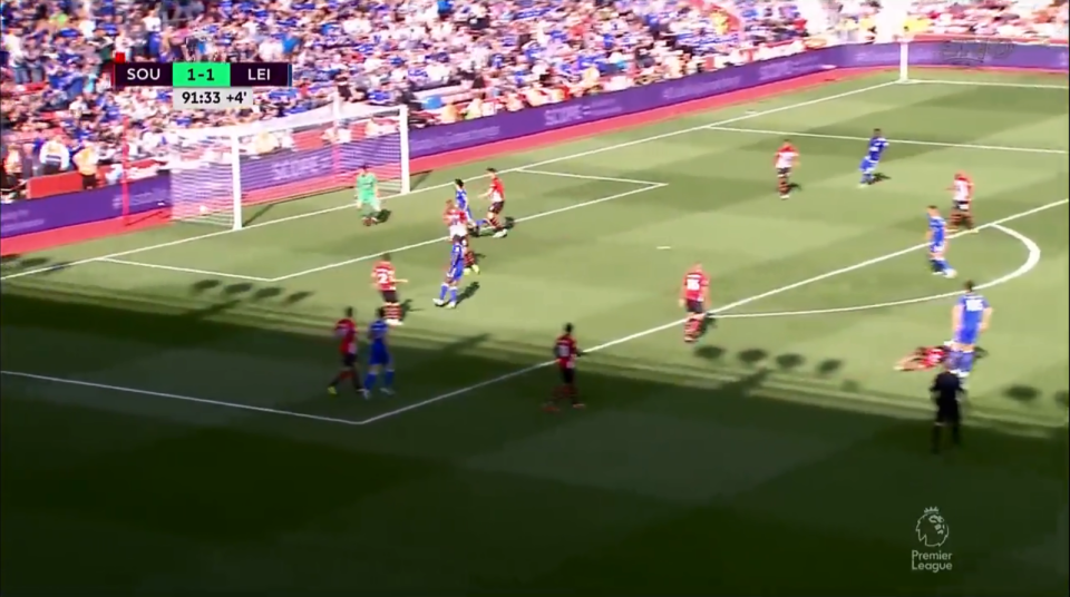 The ball fired past a helpless Alex McCarthy who remained rooted