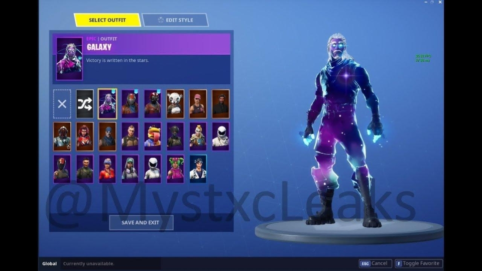 The aptly named Galaxy skin