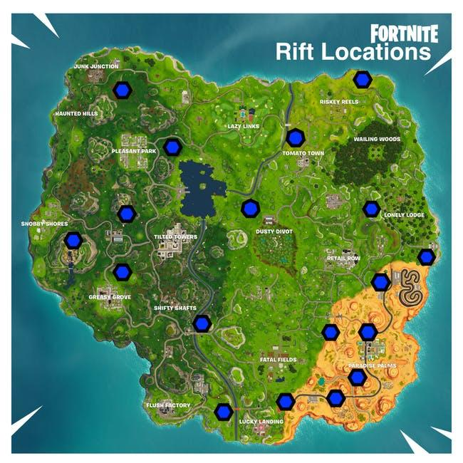 A handy map with all of the current Rift locations