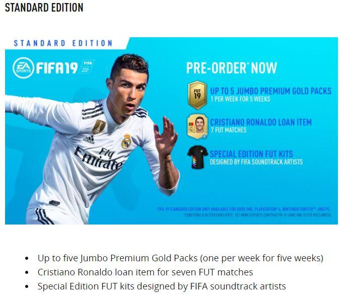 The incorrect kit can still be seen in some parts of EA's website