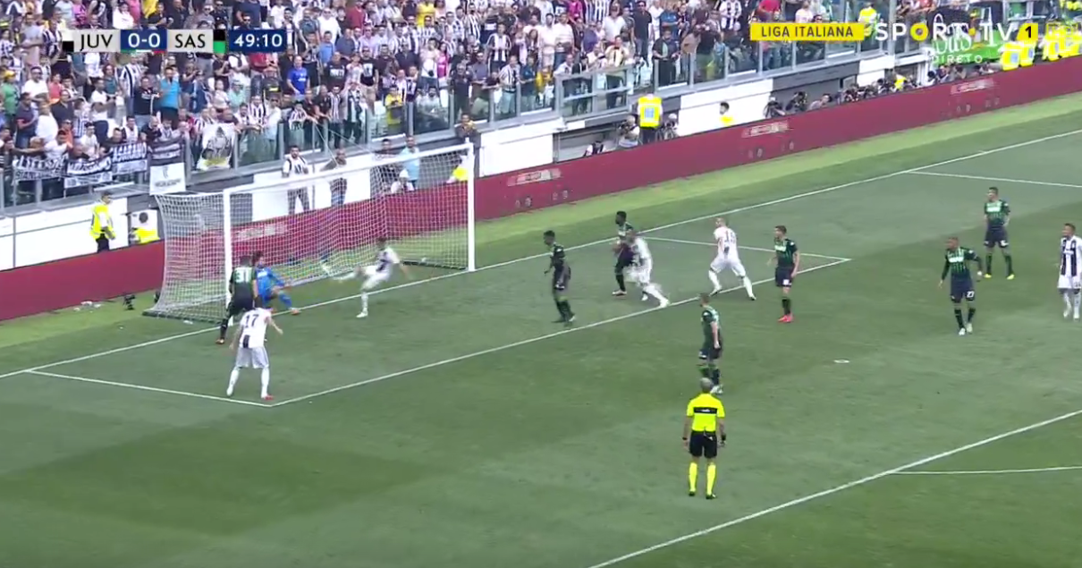 As the ball ricocheted towards the goal-line, Ronaldo was on hand for the rebound