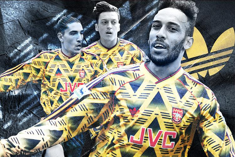 Modern Arsenal Players In The 'bruised Banana' Adidas Kit