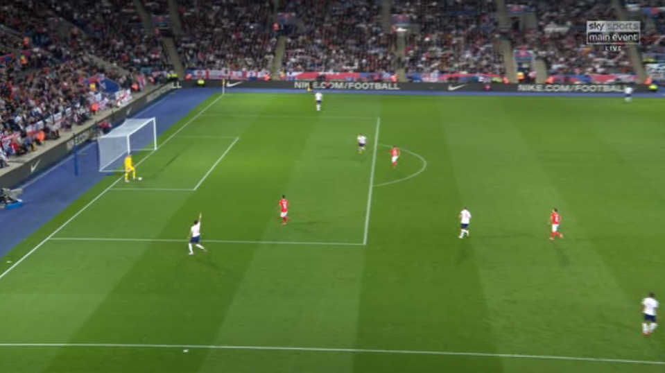 Kyle Walker was signalling for Butland to spread the ball wide