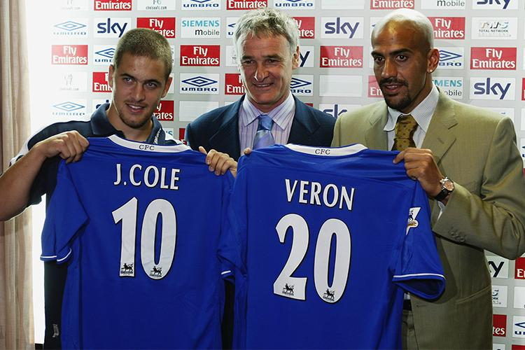 Claudio Ranieri accidentally gave away his pincode when unveiled Cole and Veron