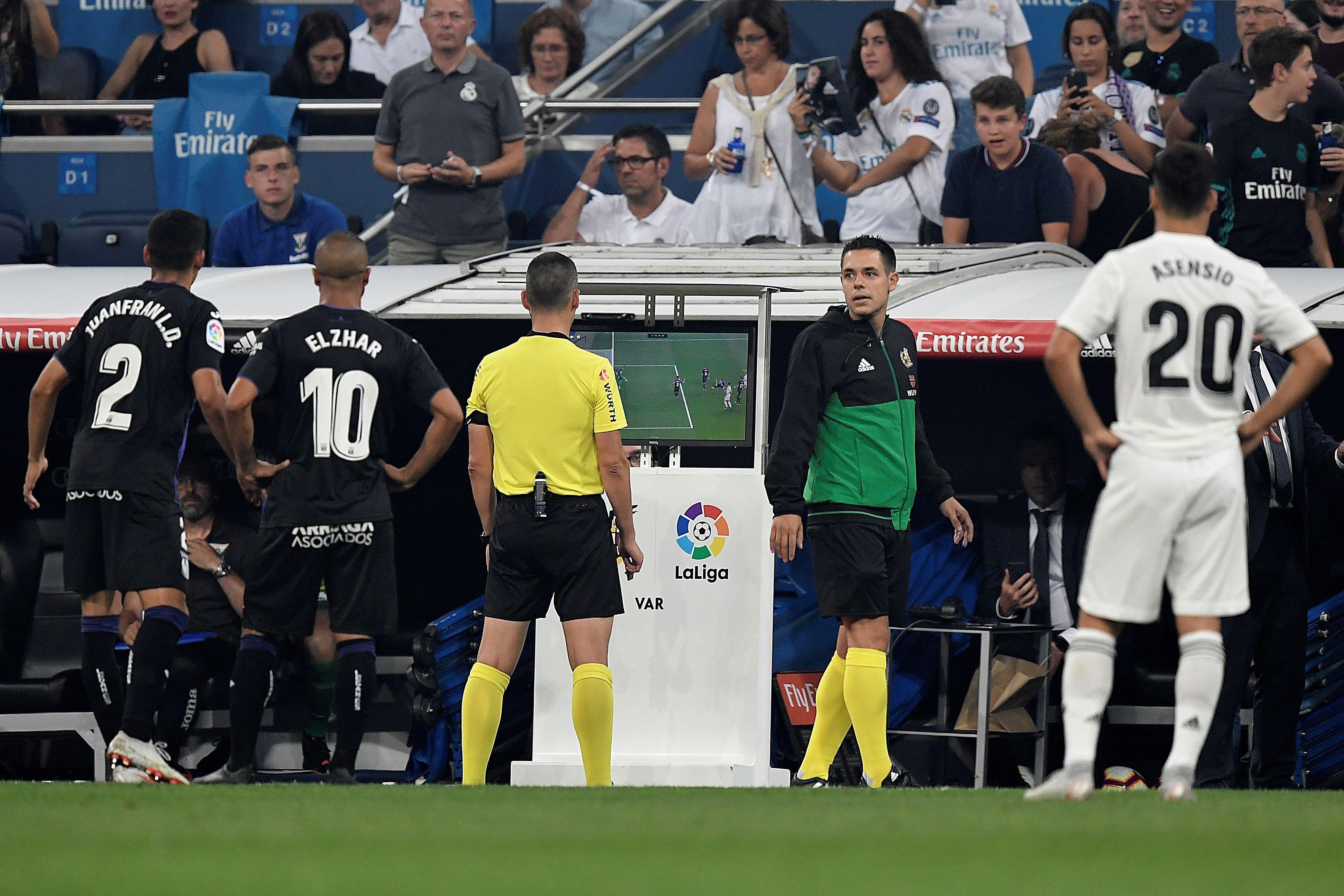 VAR has been used in La Liga since last season