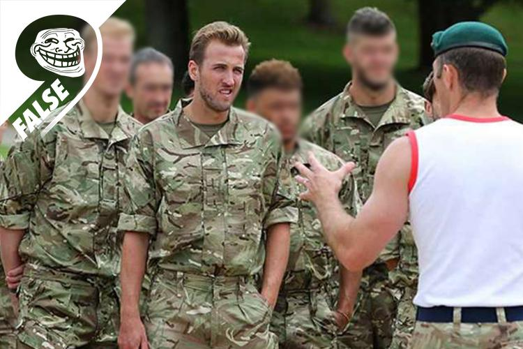 He looks made for a spell in the Territorial Army