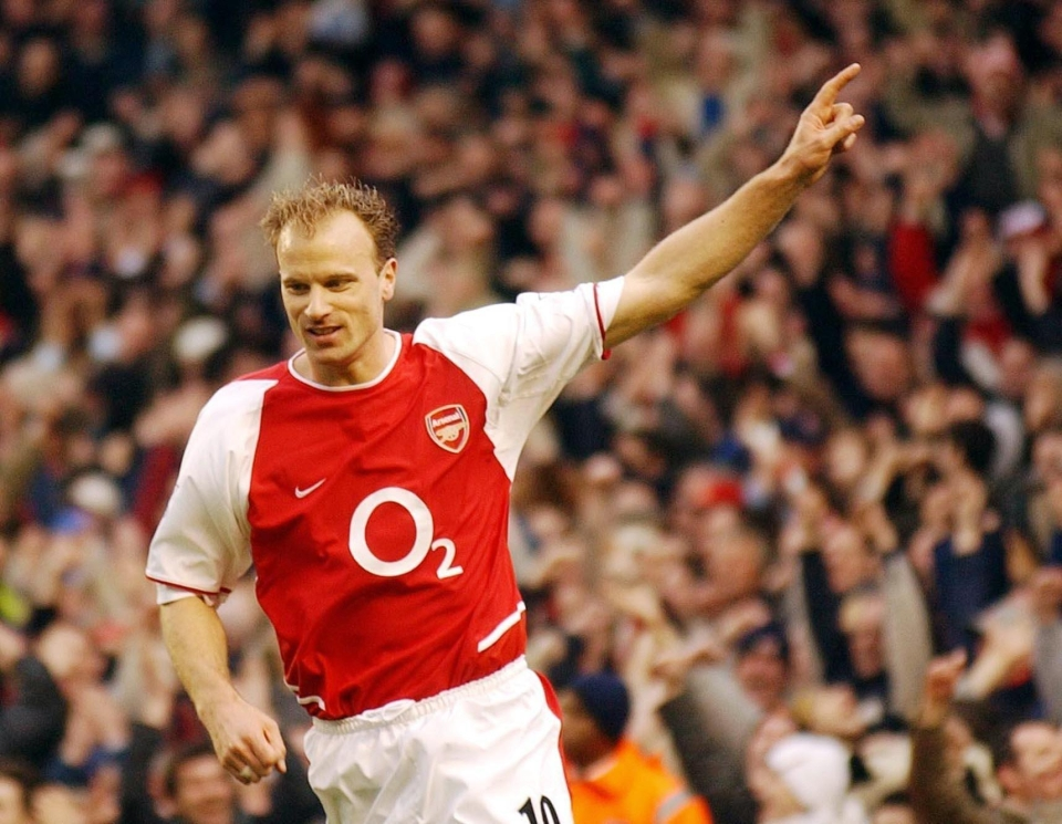 Class act Bergkamp averaged under eight league goals per season during his Arsenal career