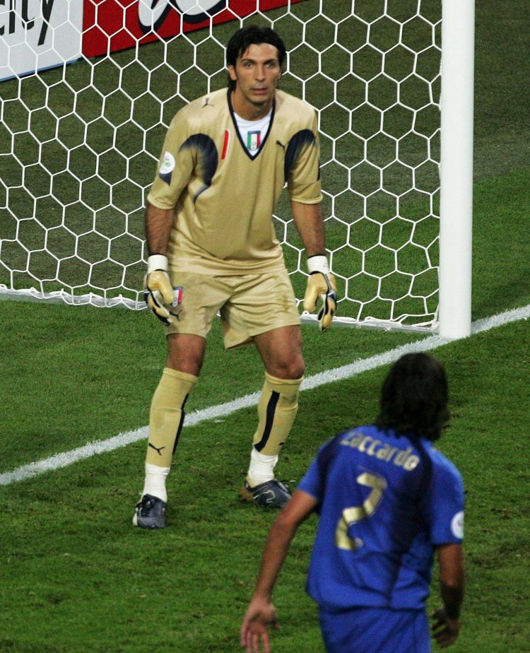 Buffon's face after Zaccardo scored an own-goal