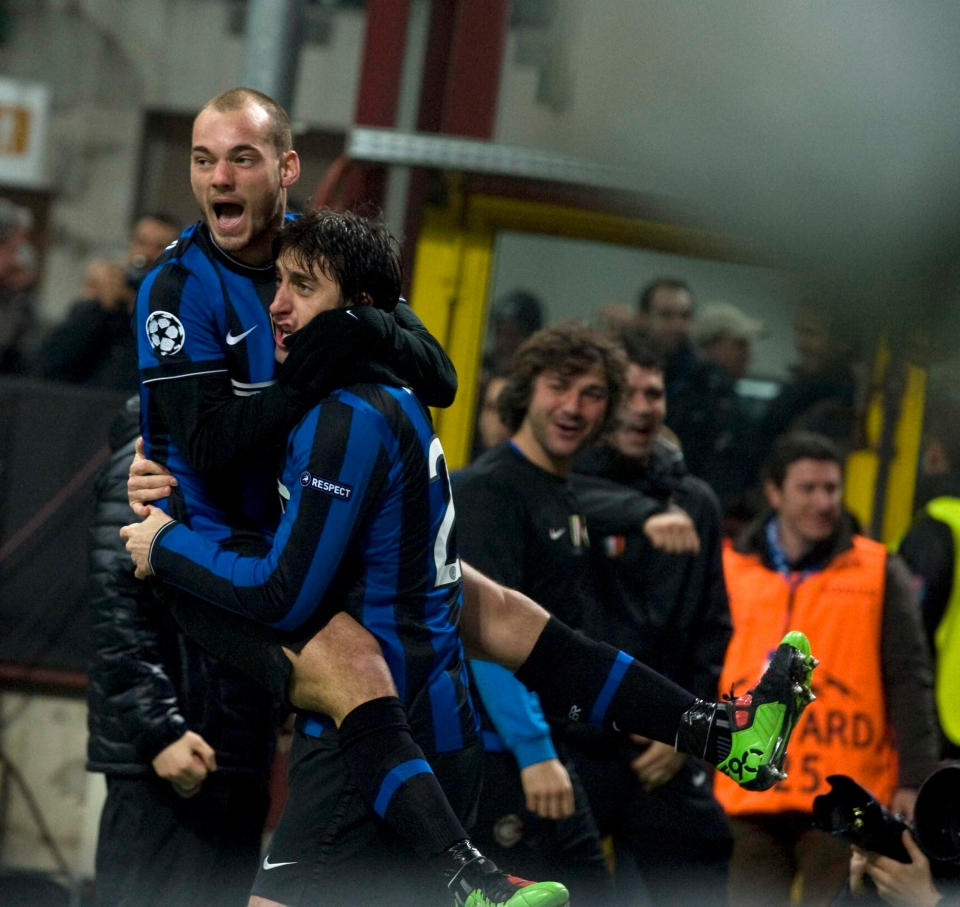 Milito was on target against Chelsea