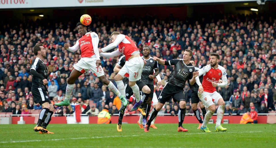 Limbs went everywhere after this goal