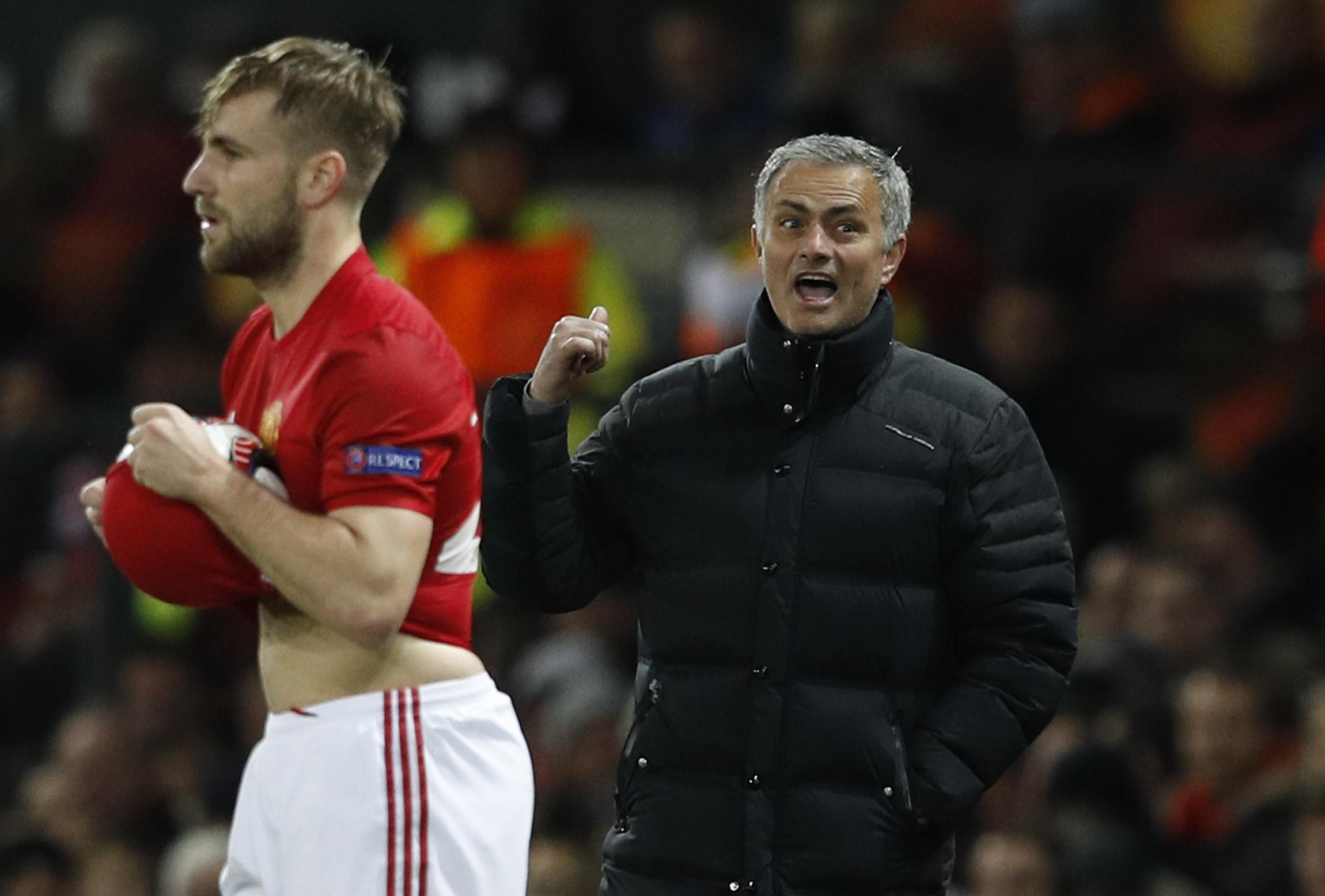 Jose claimed credit for Shaw's impressive display against Everton in April 2017