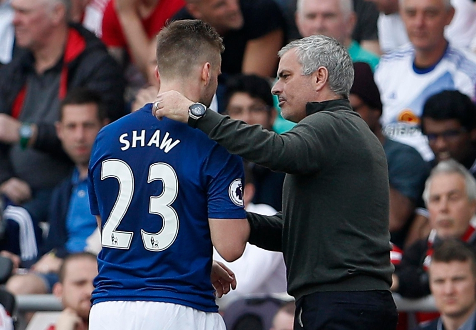 Shaw was seemingly Mourinho's main target for criticism throughout most of last season