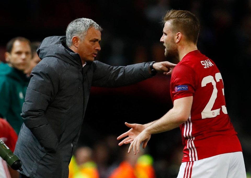 Mourinho and Shaw's relationship has been fractious