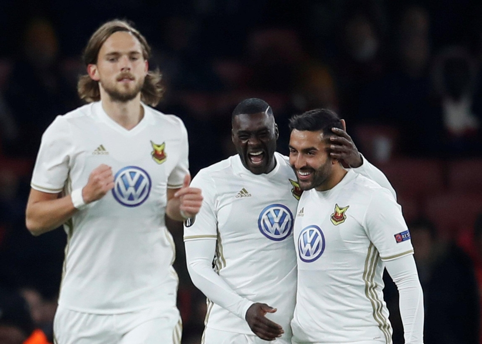 Ostersunds embarrassed the Gunners at the Emirates last season