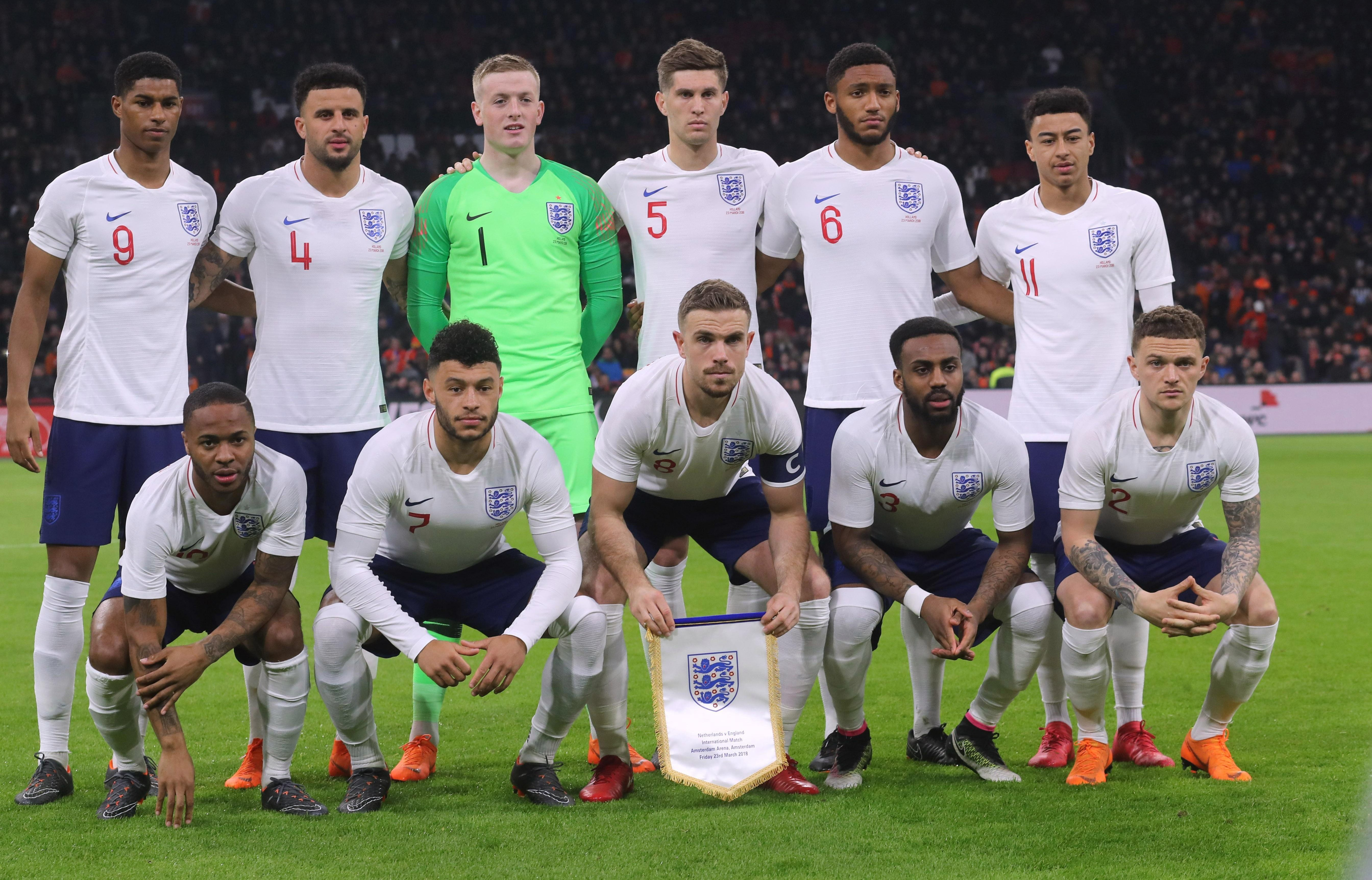 Southgate managed to field all three of Walker, Trippier and Gomez against The Netherlands in March