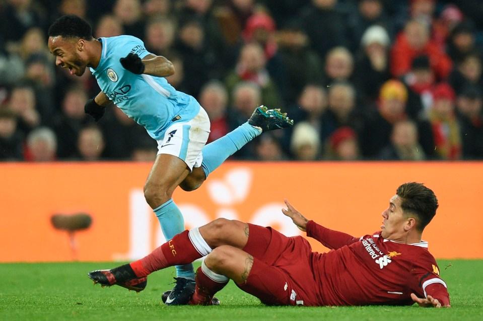Bobby sticks one on Raheem Sterling