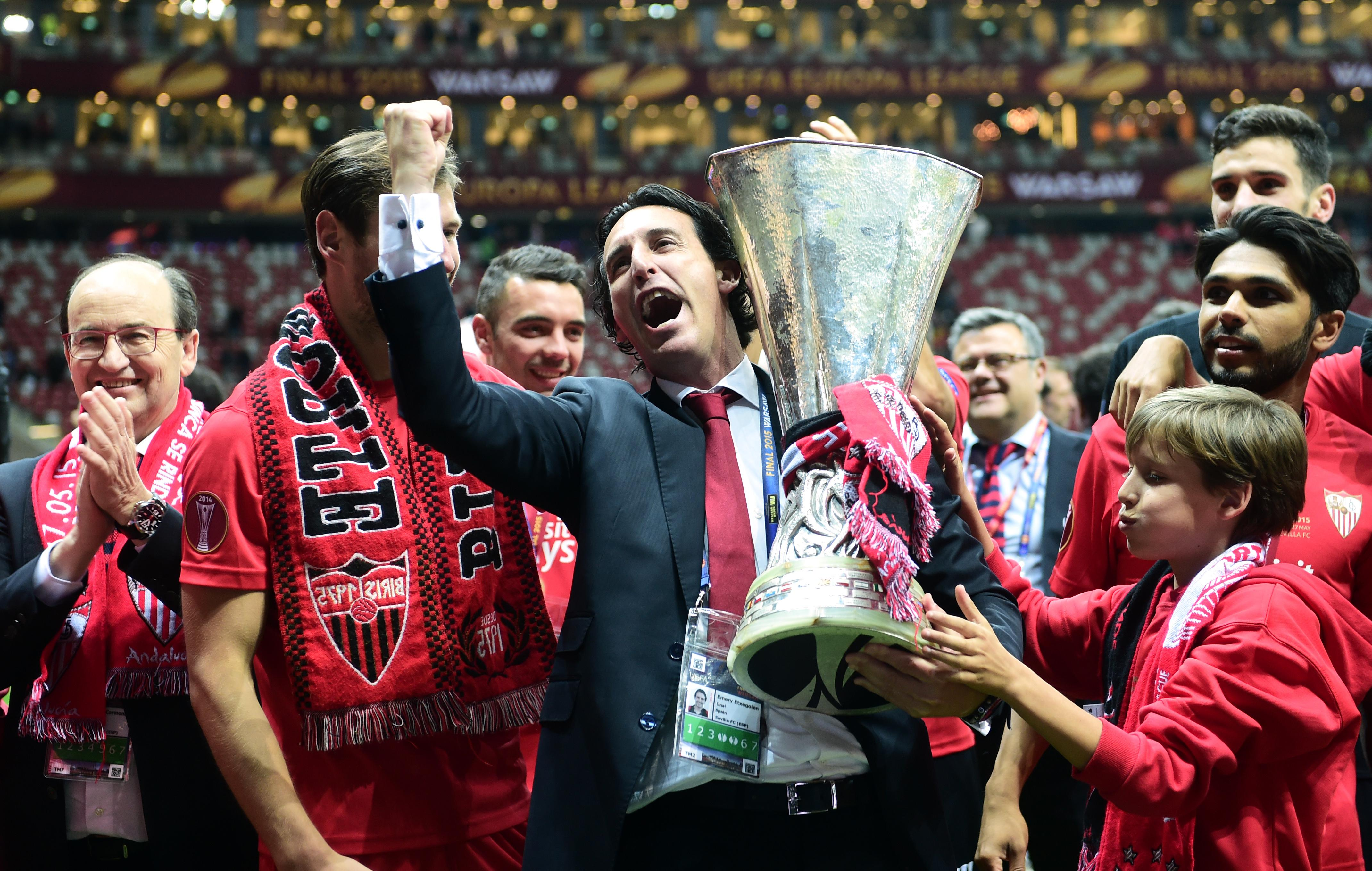 Unai Emery will hope to wrap up his fourth Europa League title