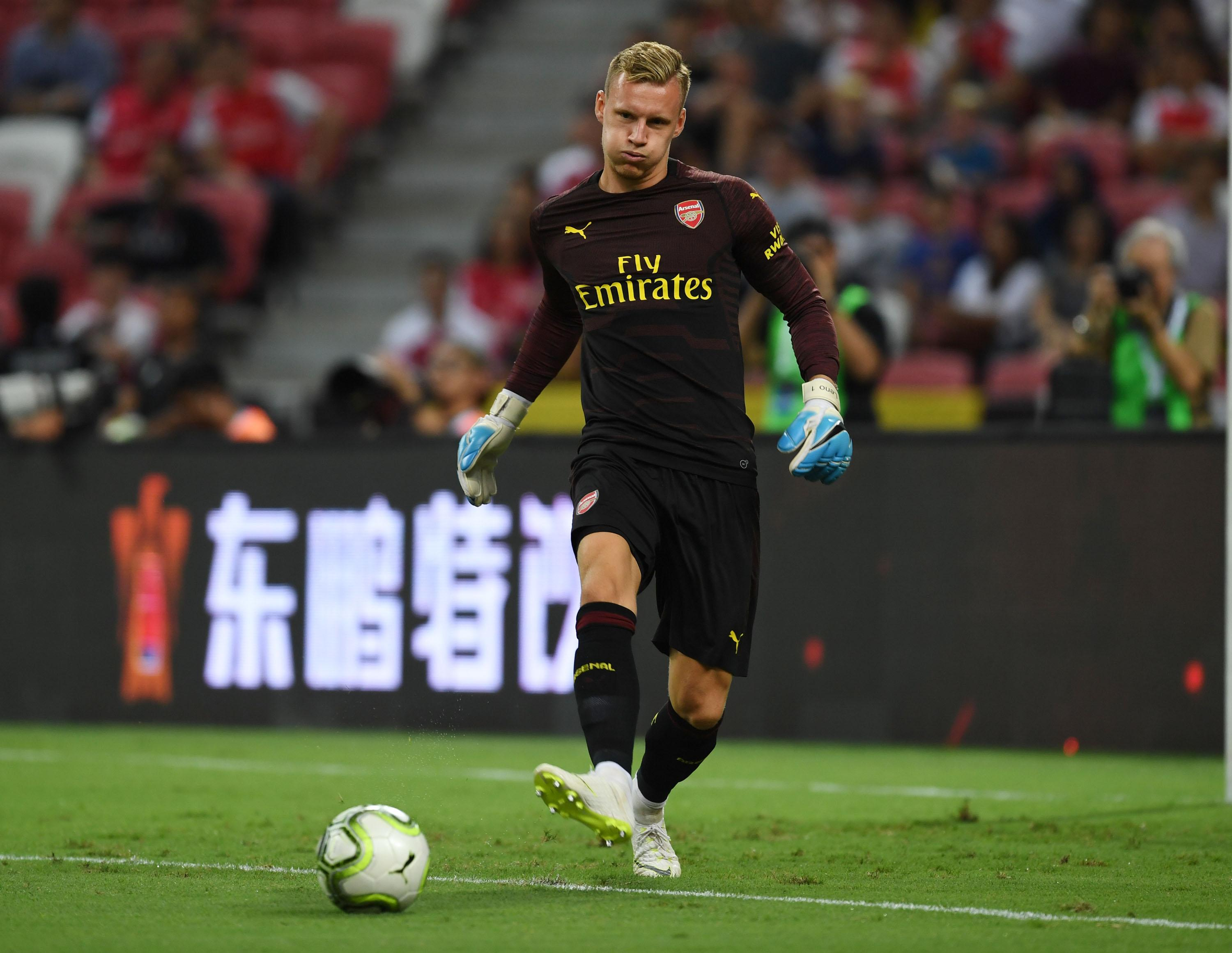 Leno is comfortable with the ball at his feet