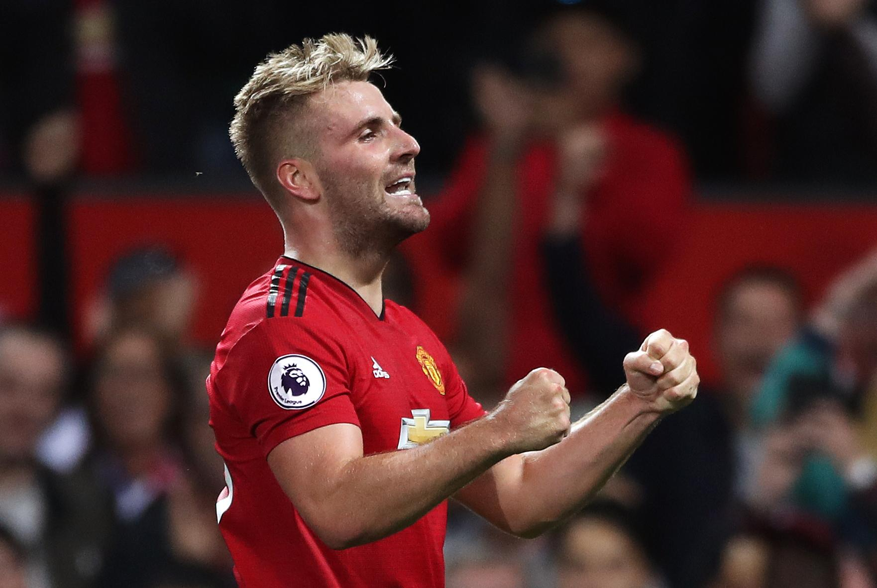 He celebrates scoring against Leicester on the opening day of this season