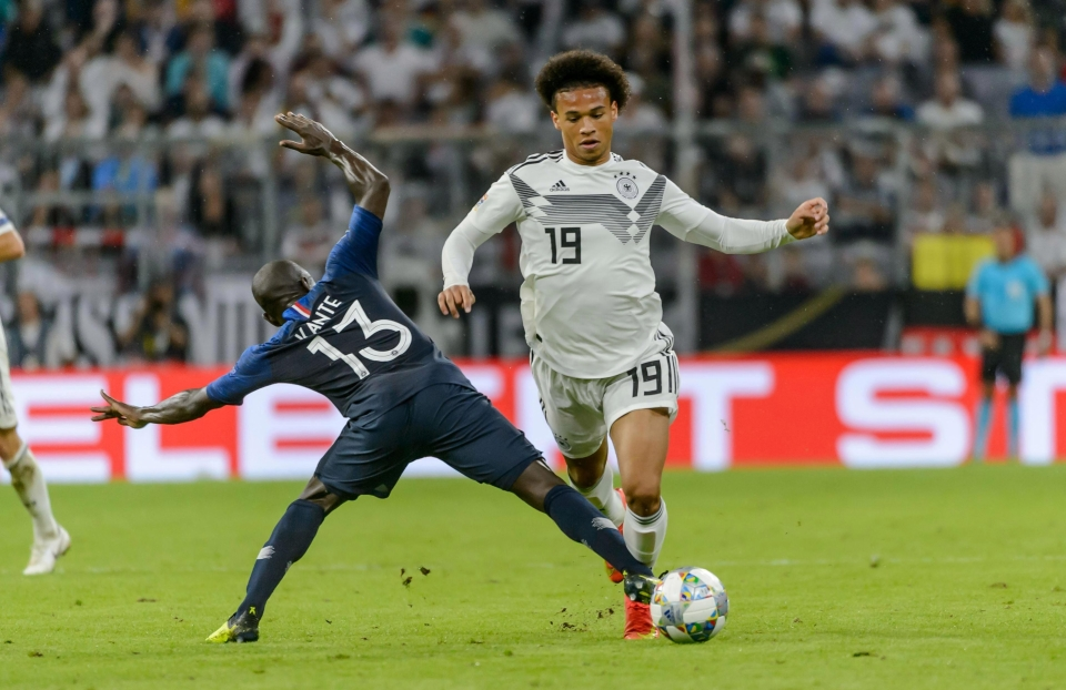 Sane replaced Marco Reus in the latter stages of the game