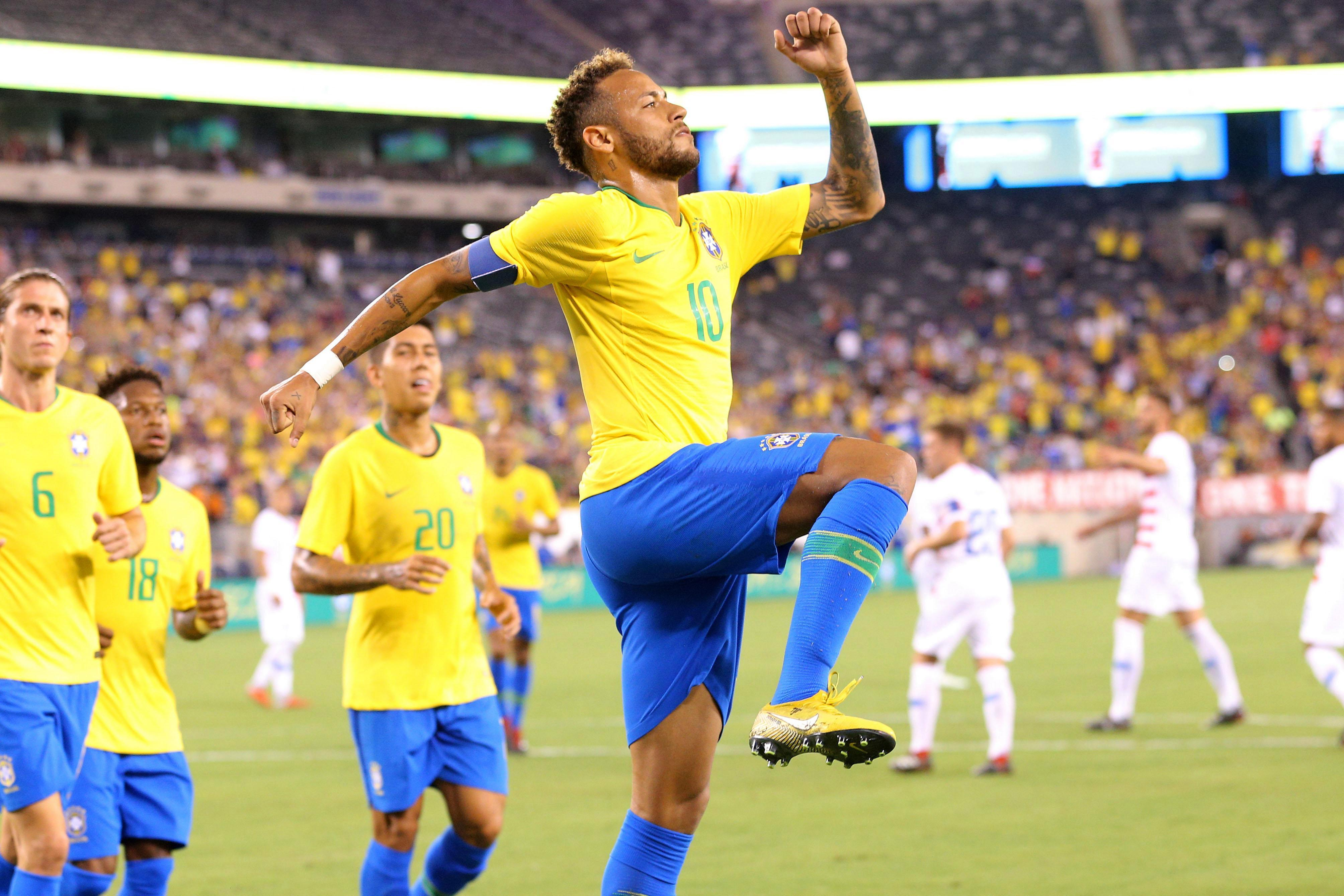 Neymar scored from the spot
