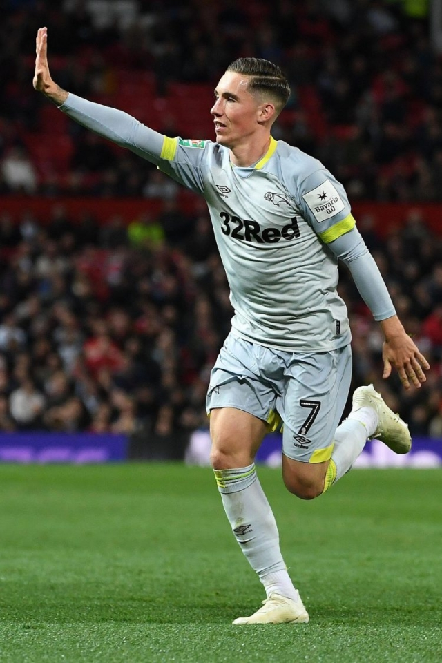 Harry Wilson – a Liverpool fan holding up five fingers when he's scores at Old Trafford. Salty.