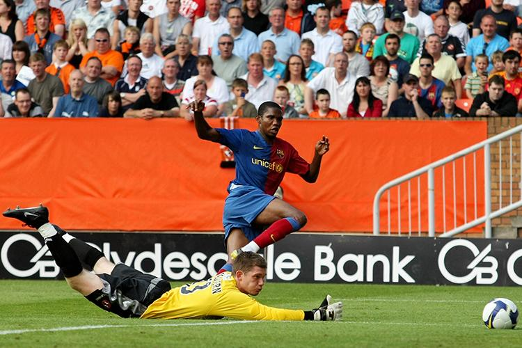 The best player ever seen at Dundee and Samuel Eto'o