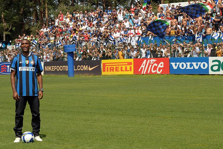 Eto'o often took to the pitch wearing jeans while playing for Inter