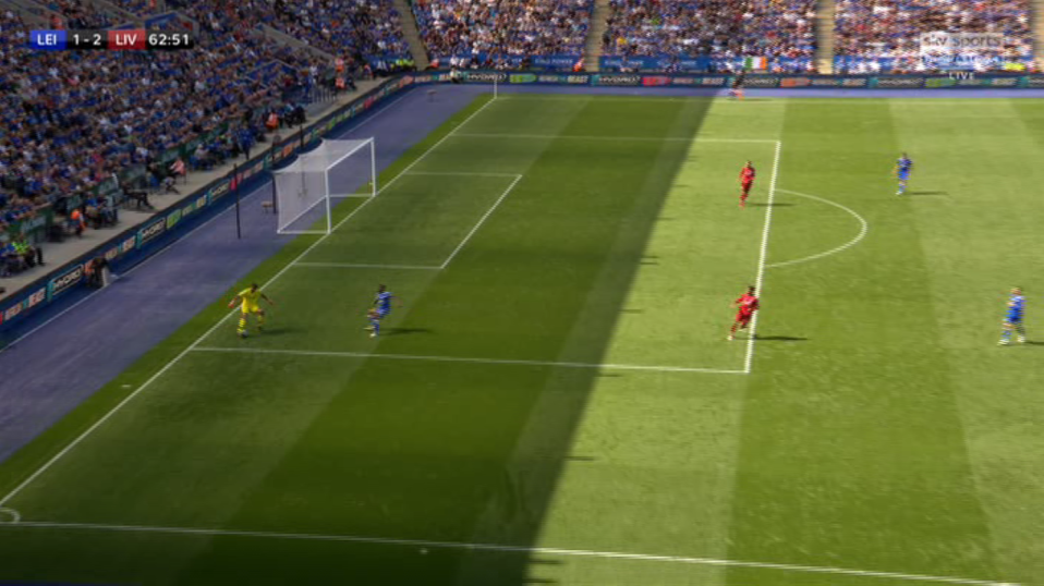 The Brazilian tried to outsmart the Leicester man with a clever turn… it didn't work