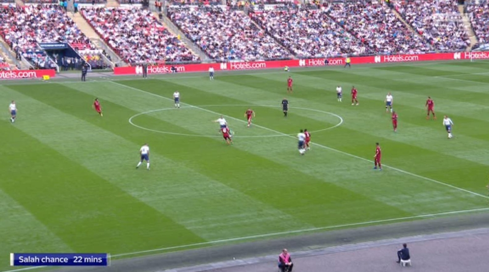 Dier failed to note the positions of his two centre-backs