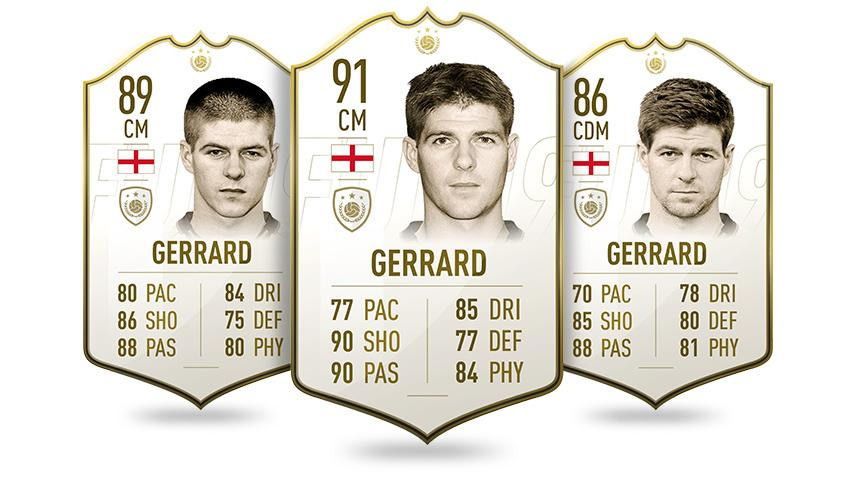 Steven Gerrard and Frank Lampard were the only two English players to become icons in FIFA 19
