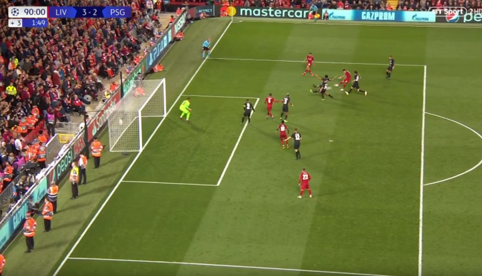 The substitute unleashed a powerful strike past Alphonse Areola