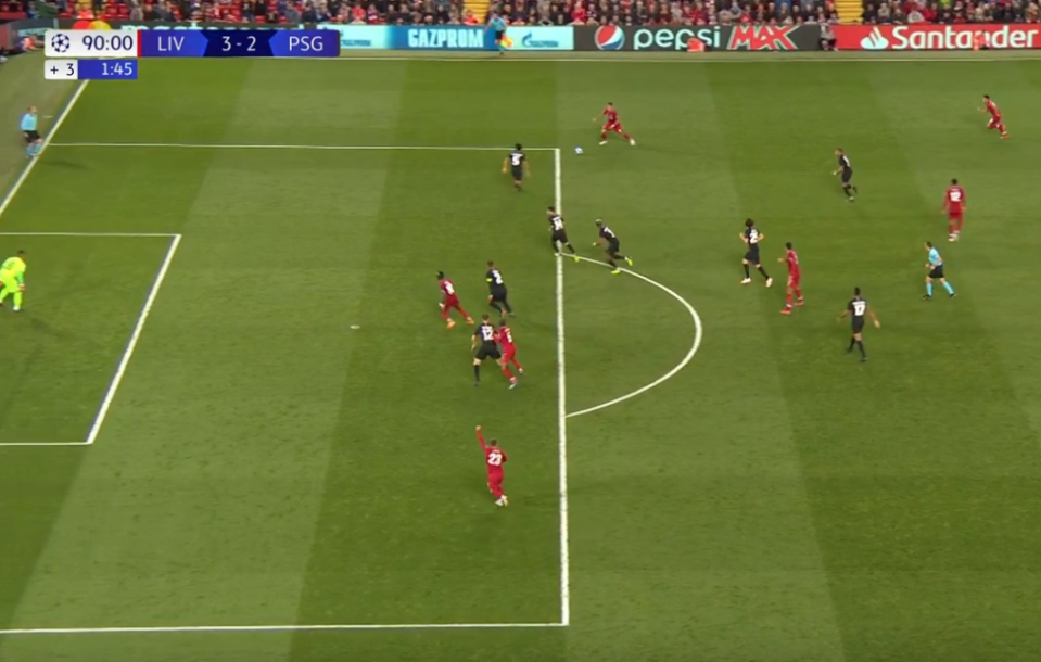 The Brazilian picked the ball up outside the box