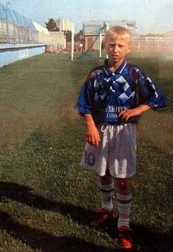 Modric as a young prodigy