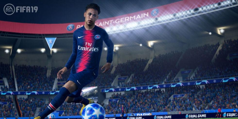 Neymar in action on the game