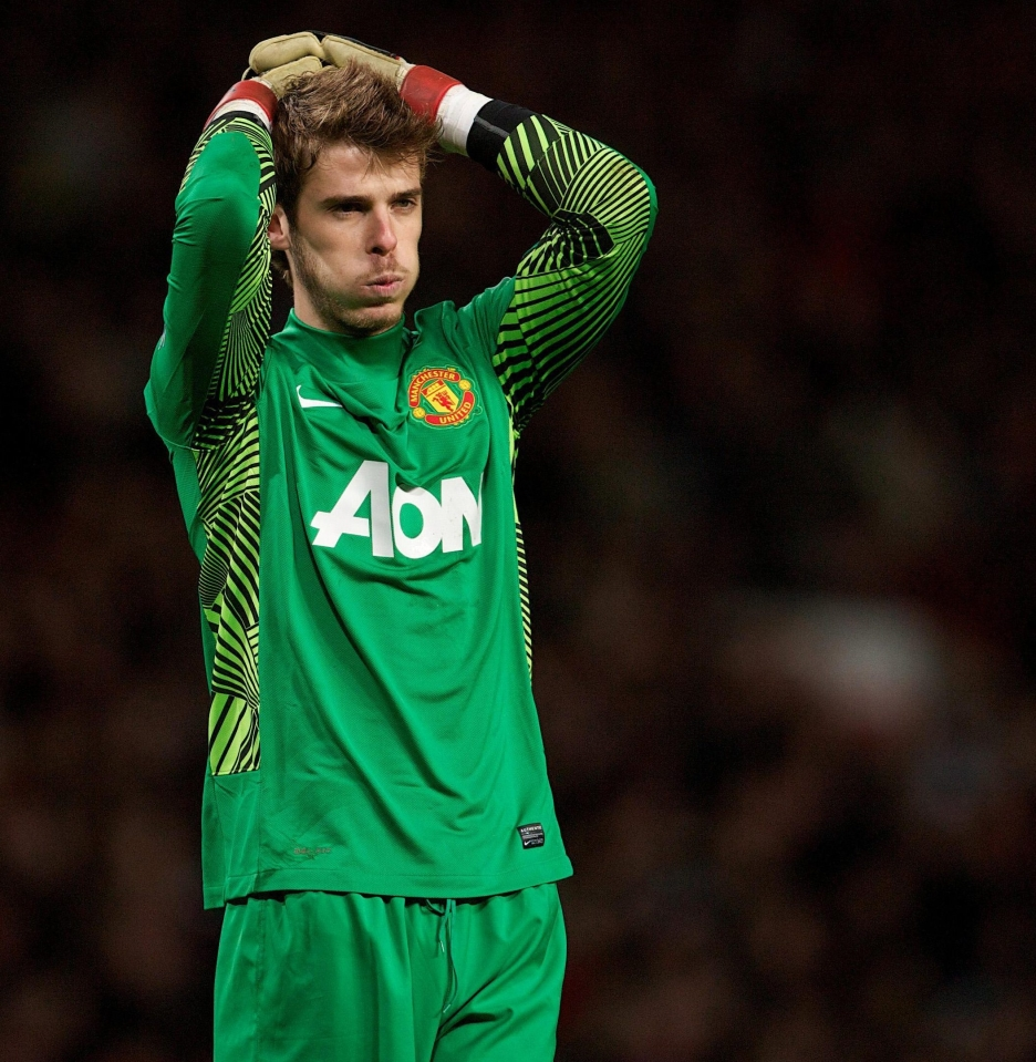A string of costly errors early on in his United career saw him droped to the bench