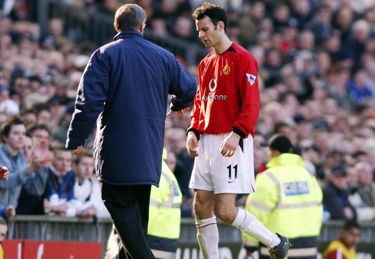 Giggs was not often subbed by Fergie