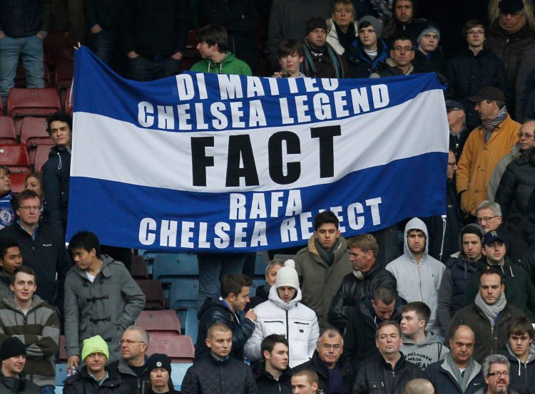 The Blues fans never warmed to Rafa