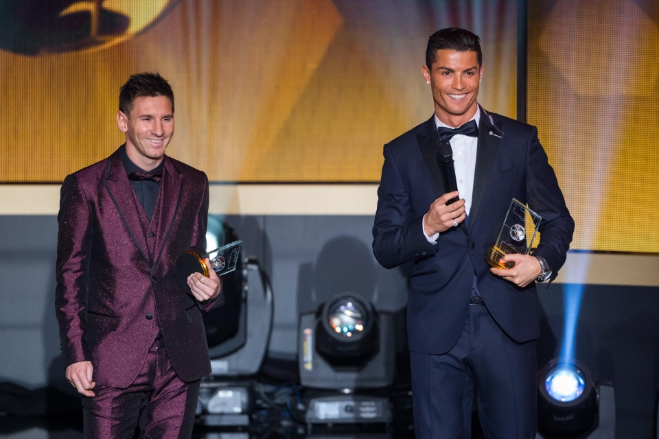 Just the ten Ballon d'Ors between them…